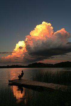 Fishing at Deep Lake, Riding Mountain National Park, Manitoba, Canada. Photo by Warren Justice.