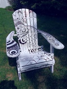 my zentangle chair - see web site.