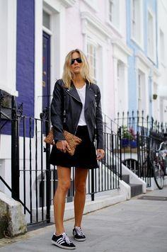 moto jacket over skirts