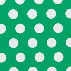 Big Dots Emerald Green Lunch Napkin