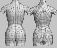 female topology - please critique (mild nudity) Wireframe, Low Poly, 3d Model Character, Character Modeling, Body Reference, Anatomy Reference, Zbrush, Blender 3d, Mode 3d