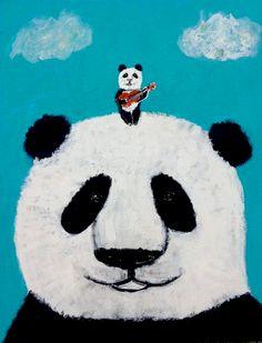 """Panda sings."""