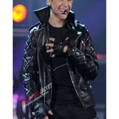 Justin Bieber Brando Black Leather Jacket