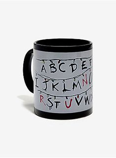 "<div>You can't battle a Demogorgon without your caffeine fix. RUN! This black mug changes colors to reveal Will's message from the Upside Down when you pour hot liquid into it. </div><ul><li style=""list-style-position: inside !important; list-style-type: disc !important"">Ceramic</li><li style=""list-style-position: inside !important; list-style-type: disc !important"">Not dishwasher or microwave safe</li><li style=""list-style-position: inside !important; list-style-type: disc !important"">..."