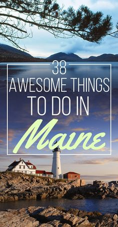 38 Awesome Things To Do In Maine, USA. There's so much more to Maine than just lobster. Travel i Camping Places, Places To Travel, Travel Destinations, Travel Sights, Travel Stuff, East Coast Travel, East Coast Road Trip, Death Valley, Travel Usa