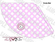 Aristocats Marie Paris Theme Printable Party Hat by februaryskyes, $9.00
