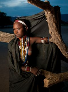 Young woman from the Arbore tribe. Omo valley, south Ethiopia, 2013.