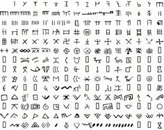 Vinca symbols - look like wingdings