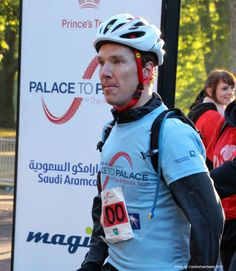 I never thought someone in a helmet could still be so attractive! Ben at the Palace To Palace bike run for the Prince's Trust charity 10/14/12.