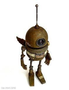 Aerowax ~ by Dan Jones a.a Tinkerbots Robot Cute, Cool Robots, Art Of Dan, Art Haus, Steampunk Robots, Arte Robot, Retro Rocket, Vintage Robots, Robot Concept Art