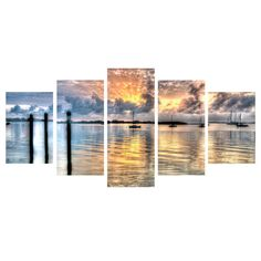 Found it at Wayfair - 'Calm Waters' by Bruce Bain 5 Piece Photographic Print on Wrapped Canvas Set