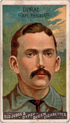 Vintage Baseball Card, Fred Dunlap, Pittsburgh Alleghenys
