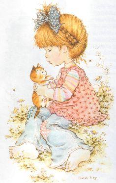 Jugando con un gatito - Sarah Kay