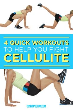 FIGHT CELLULITE WORKOUT: These four quick moves from Tracy Anderson are designed to tighten and tone legs to create a smooth look. Here youll find four leg moves including the lunge kick, butt lift, Cellulite Wrap, Causes Of Cellulite, Cellulite Scrub, Cellulite Exercises, Cellulite Remedies, Reduce Cellulite, Anti Cellulite, Cellulite Workout, Thigh Cellulite
