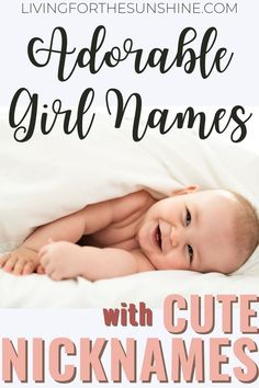 FInd a baby name for your little girl with an extremely cute nickname to match! Long Girl Names, Lovely Girl Names, Unique Girl Names, Pretty Names, Baby Girl Names, Boy Names, Baby Girls, Names With Nicknames, Cute Nicknames