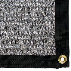 Shade Cloth, 70% sun block Aluminet - Shade Cloth $50 — 7' wide x 8' long, includes edging & grommets every 2 feet.