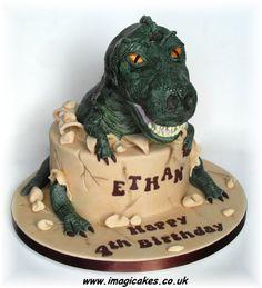 Trevor the T-Rex! - by imagicakes @ CakesDecor.com - cake decorating website