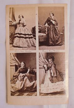 Princesses Lucien, Louise, Anna and Caroline Murat. 4 image CDV