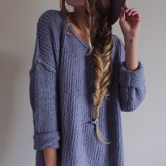 Tricot ample gris-onaimedamour