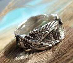Angel Wings Ring, Angel Wing Fine Silver Ring, Angel Wing Jewelry, Eco Friendly Jewelry, Eco-Friendly Ring Size 4 5 6 7 8 9 10 11 12 13 14