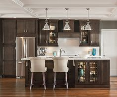 Flagstone by Aristokraft Cabinetry.  I think Marquis is more expensive than Aristocrat so perhaps you go move into the high-end finishes of a lower priced cabinet brand without having to upgrade?