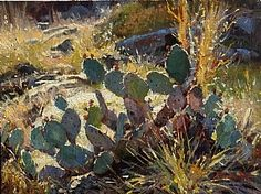 Cactus Color by Mark Haworth   ~  Oil ~ 9 x 12