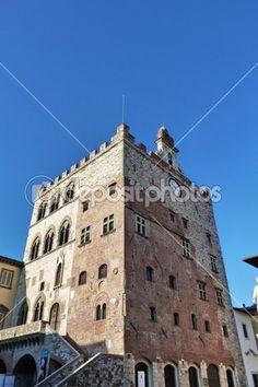 Palazzo Pretorio, Prato, Tuscany, Italy — Stock Photo