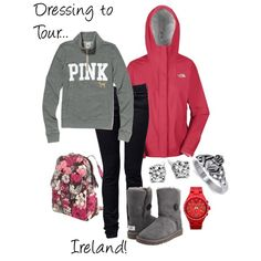 What to wear when touring Ireland, created by klallebach on Polyvore
