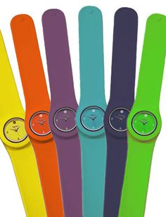 Colorful Slap Band Watches.