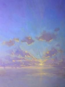 """Cloudscape in Purples"", 30x40 by Timon Sloane"