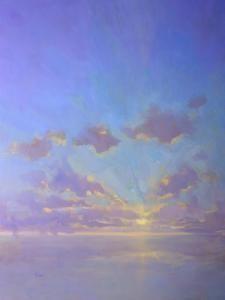 """Cloudscape in Purples"", 30x40 by Timon Sloane"