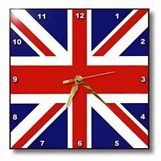 Amazon.com - 3dRose dpp_62560_1 Union Jack Old British Naval Flag Wall Clock, 10 by 10-Inch - Novelty Wall Clock