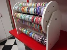 Custom Craftroom Ribbon Holder by Pattyspages on Etsy