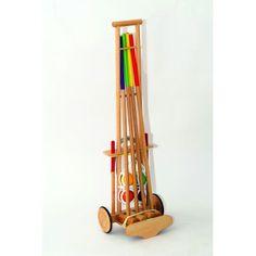 Jeu de croquet ado / adulte 4 joueurs avec chariot