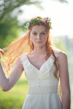 An elegant #wedding hair look you can create yourself >> http://www.hgtvgardens.com/diy-wedding-hair-with-flowers?soc=pinterest