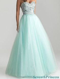 Ball Gown Sweetheart Floor-length Tulle Prom Dress 2014