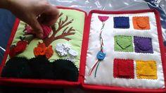 Hand crafted baby quiet book -for Barbara - Made by Darina Scepkova......... Rucne robena detska knizka pre Barborku