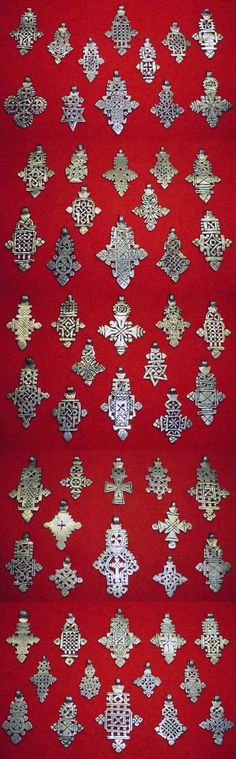 Ethiopia | Old 'trade-silver' Coptic crosses