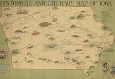 Iowa, Genealogy, Past, Vintage World Maps, Public, Collections, History, Blog, Women