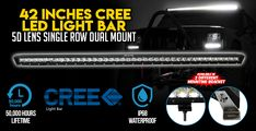 This Cosmoblaze LED light bar will be the perfect solution for your vehicle's lighting needs. The light bar has a flood and spot beam combo, visit Elinz. Cree Led Light Bar, Led Light Bars, Bar Lighting, Beams, The Row, Exposed Beams