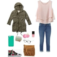 Untitled #6 by canelida on Polyvore featuring polyvore fashion style Chicwish Abercrombie & Fitch White Stuff Vans Polo Ralph Lauren ALDO FOSSIL Eos Tiffany & Co.