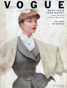 1951 Vogue Cover. How amazing is this ensemble, and how small is her waist??