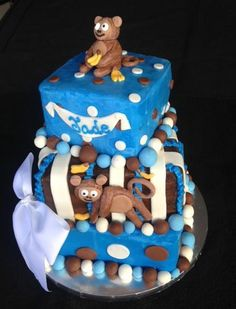 Monkey Baby Shower Cake by Deb's Cuddle Cakes