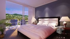 Home interior decoration and Cooking Ideas: bedroom with a view design
