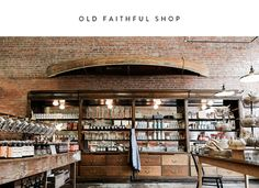 With a name that evokes timeless quality, Old Faithful Shop sells household items designed for simple, everyday living. Their heirloom wares include sturdy kitchen essentials, light fixtures that look ripped from Ben Franklin's desk, and more.