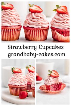 Forget the cake mix! Learn how to make moist, tender, melt in your mouth fresh Strawberry Cupcakes from scratch with a delicious fluffy strawberry buttercream to die for! Strawberry Cupcake Recipes, Cupcake Flavors, Strawberry Buttercream, Fun Desserts, Delicious Desserts, Dessert Recipes, Yummy Food, Yummy Recipes, Best Icing Recipe