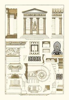Architectural Drawings of Renaissance Architecture                                                                                                                                                                                 More #ancientgreekarchitecture