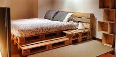 creare testata letto con bancali - Cerca con Google