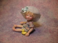 OOAK Dollhouse Miniature Girl Doll * Gabby * by Carol McBride