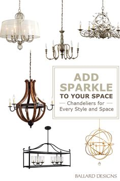 Are you looking to redo the decor of your dining room or add a few touches to bring it up-to-date? From formal to fanciful, the stunning chandelier collection from Ballard Designs offers many ways to illuminate your space. Discover a wide range of styles, from wrought iron to crystal chandeliers, all at positively brilliant prices.